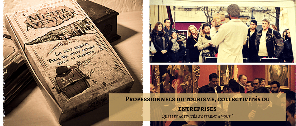 Les animations pour les collectivités, les professionnels du tourisme et les entreprises
